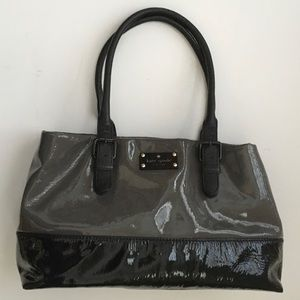 Kate Spade Patent Handbag Gray/Black